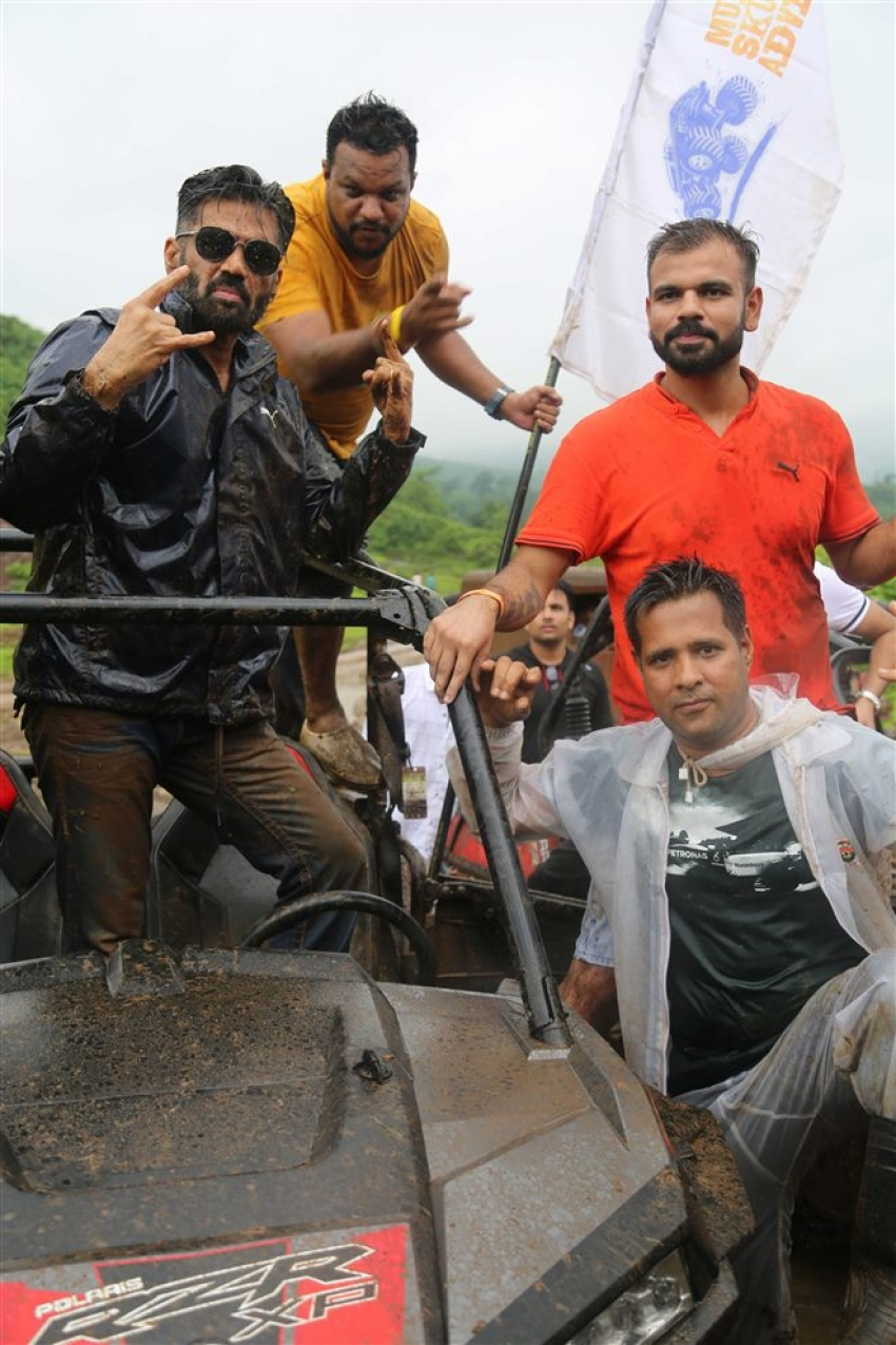 Sunil Shetty Launch India's First Off Roading Rally Mud Skull Adventure At Karjat Photos
