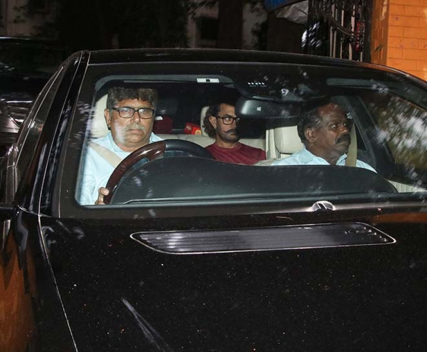 Aamir Khan Spotted At His Mother House Photos