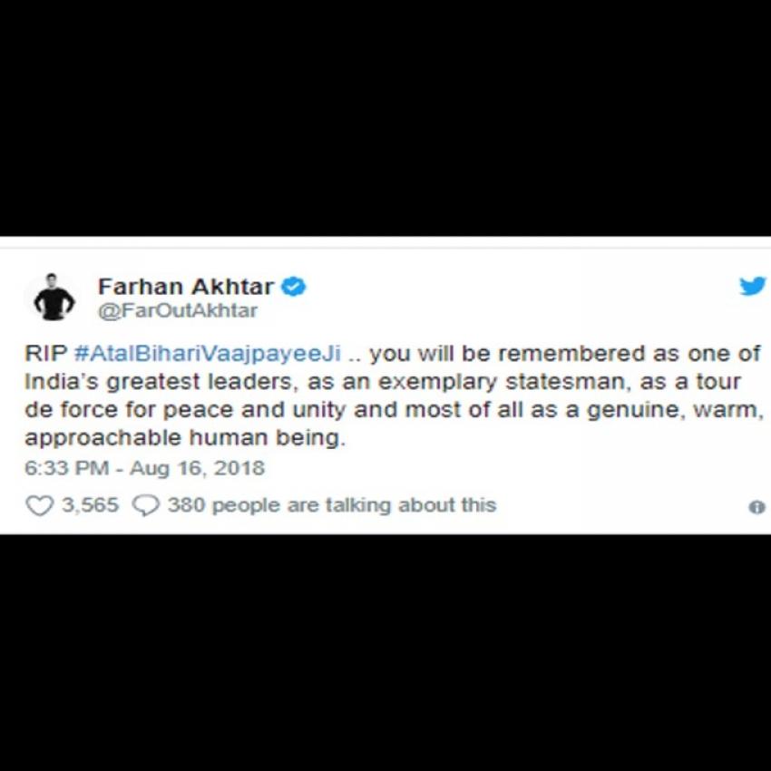 Actors Condolence Messages To Atal Bihari Vajpayee Death Photos