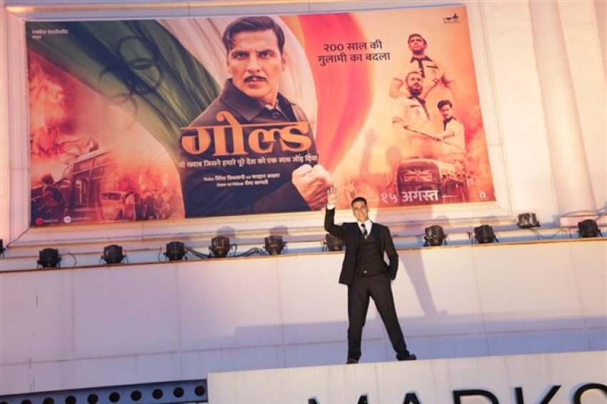Akshay Kumar & Mouni Roy Promote Gold In New Delhi Photos