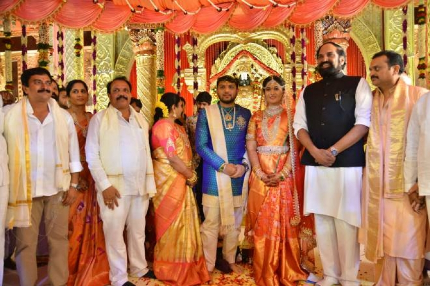 Celebs Attended Producer Ganesh Brothers Daughter Ashritha Wedding With Sai Pavan Photos