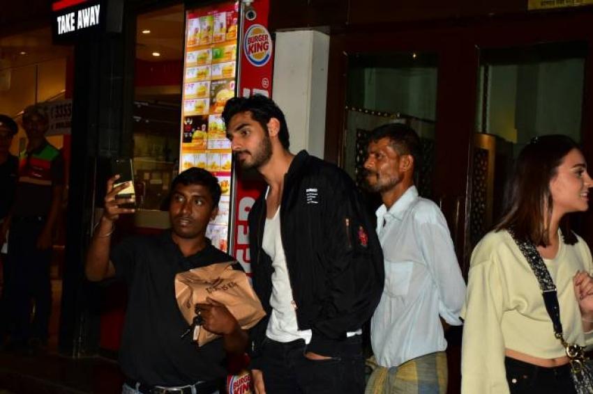 E Aahan Shetty With Friend At Bandra Photos