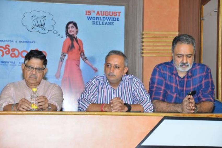 Geeta Govindham Contravarcy Press Meet Photos