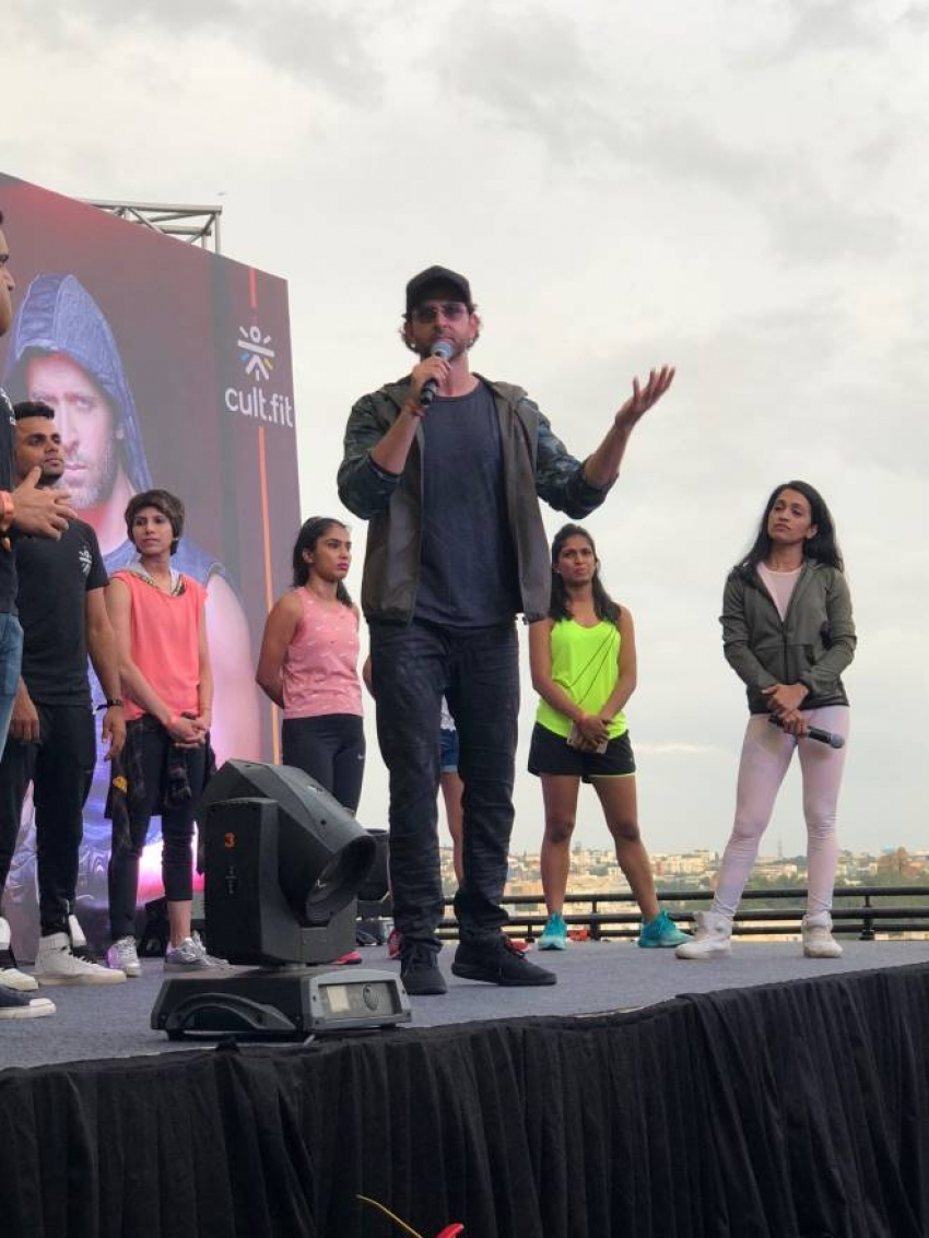 Hrithik Roshan Promotes Fitness At Inorbit Mall Photos