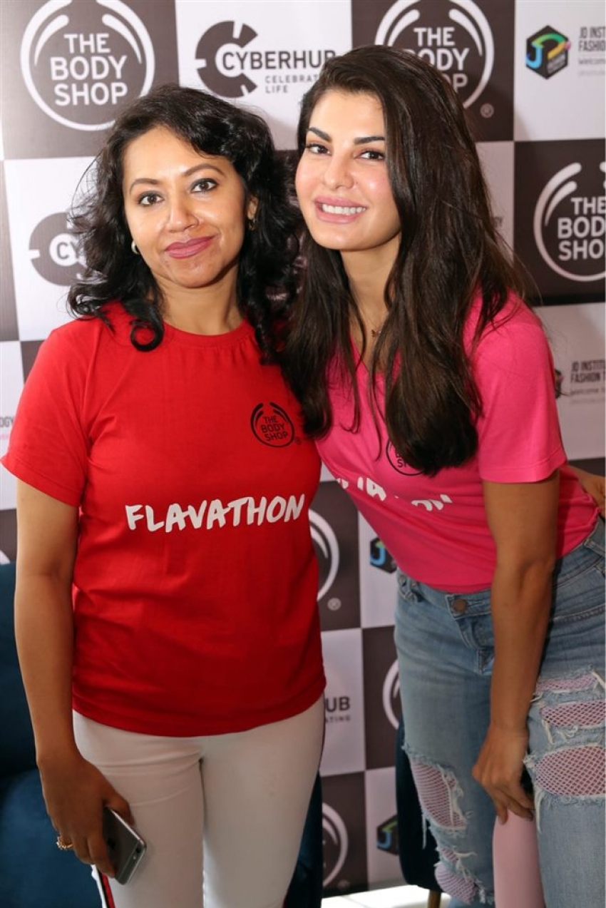 Jacqueline Fernandez At Flavathon By The Body Shop Event In Gurugram Photos
