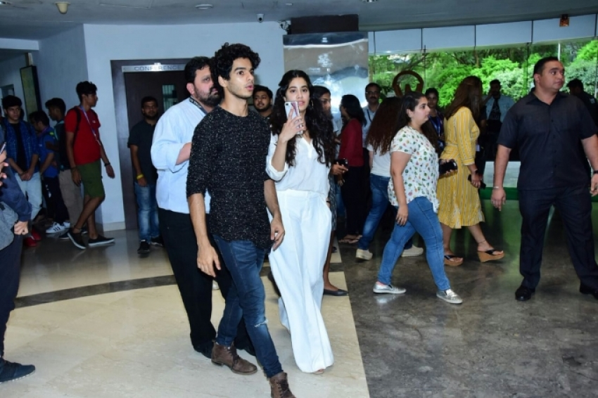 Janhvi Kapoor & Ishaan Khattar At Whistling Wood International Photos