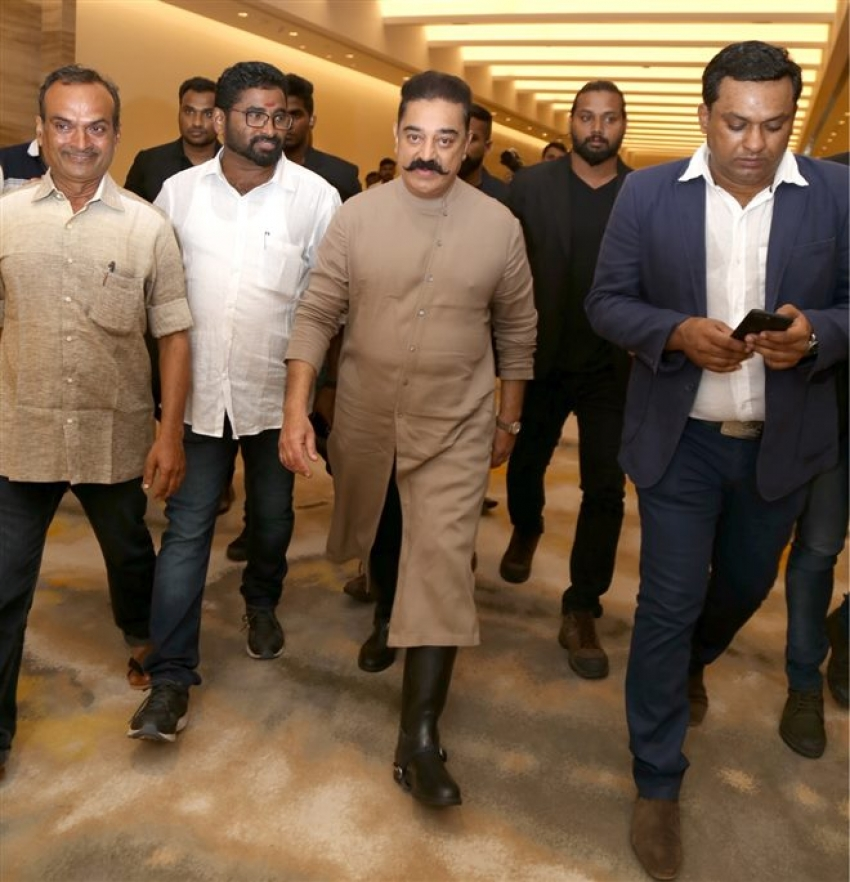 Kamal Haasan ,Priya Prakash Varrier and Pooja Kumar At Press Meet Of Vishwaroopam 3 Photos