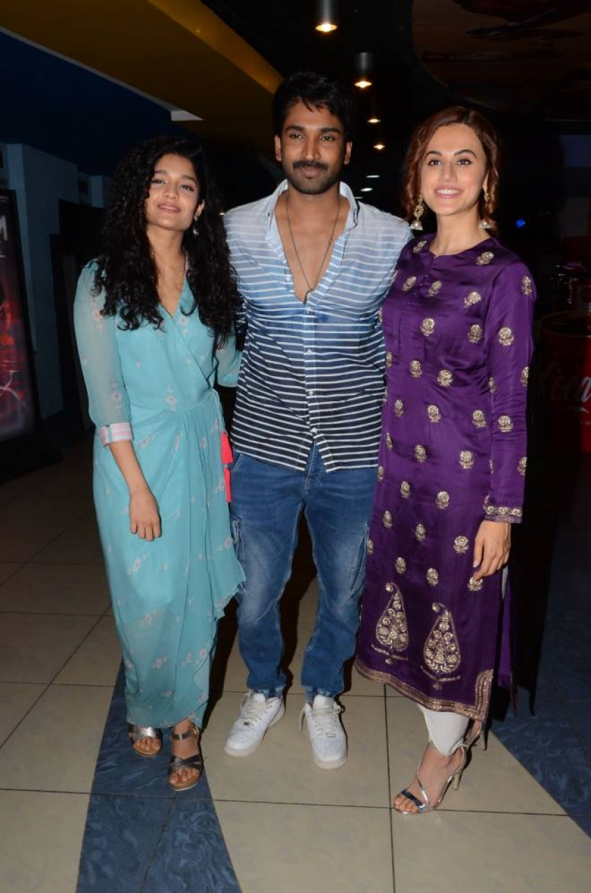 Neevevaro Movie Premiere Show At Prasad Imax Hyderabad Photos