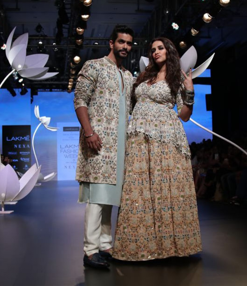 Neha Dhupia walks the Ramp of Lakme Fashion week 2018 Photos