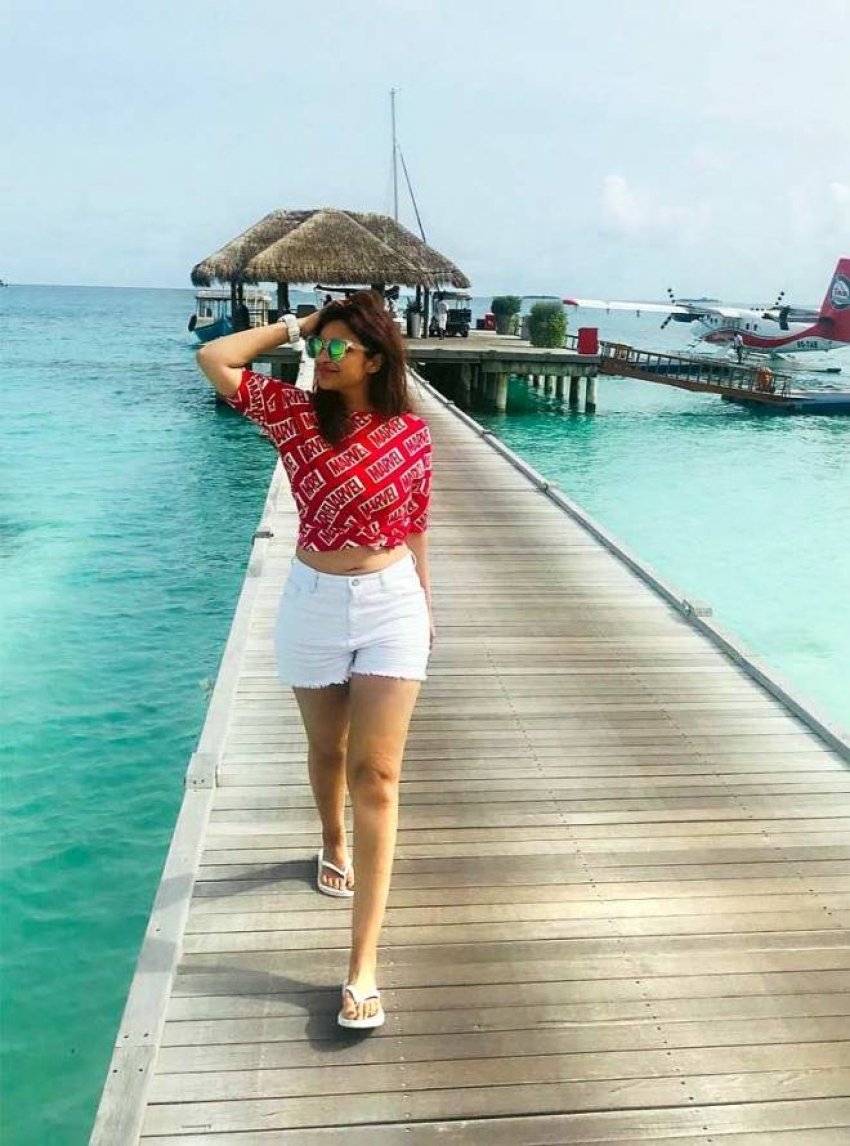 Parineeti Chopra Enjoys Her Vacation In Maldives Photos
