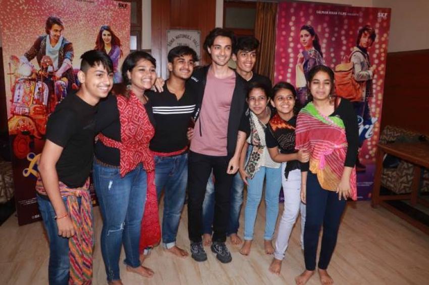 Promoting Upcoming Movie Loveratri At K C College Photos