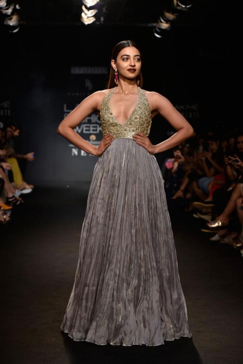 Radhika Apte walk the ramp at Lakme Fashion Week 2018 Photos