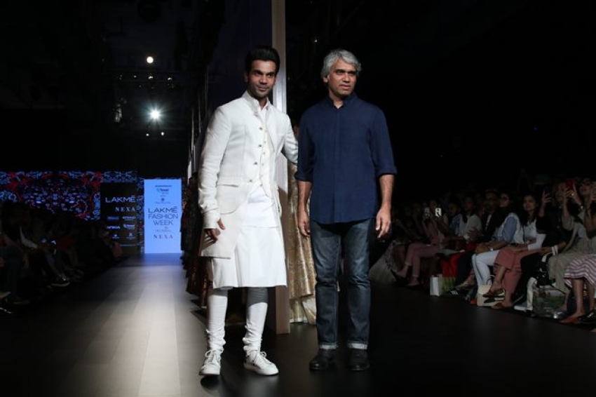 Rajkumar Rao Walks The Ramp On Lakme Fashion Week 2018 Photos