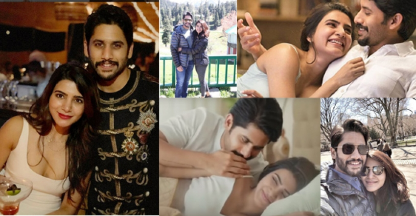 Samantha And Naga Chaitanya Romantic Moments Photos