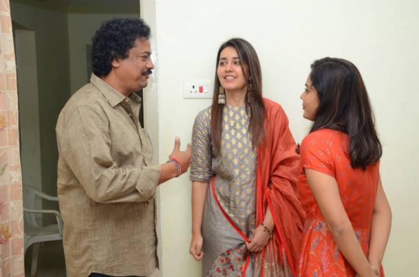 Srinivasa Kalyanam Movie Team Visited Dwaraka Tirumala Temple Photos
