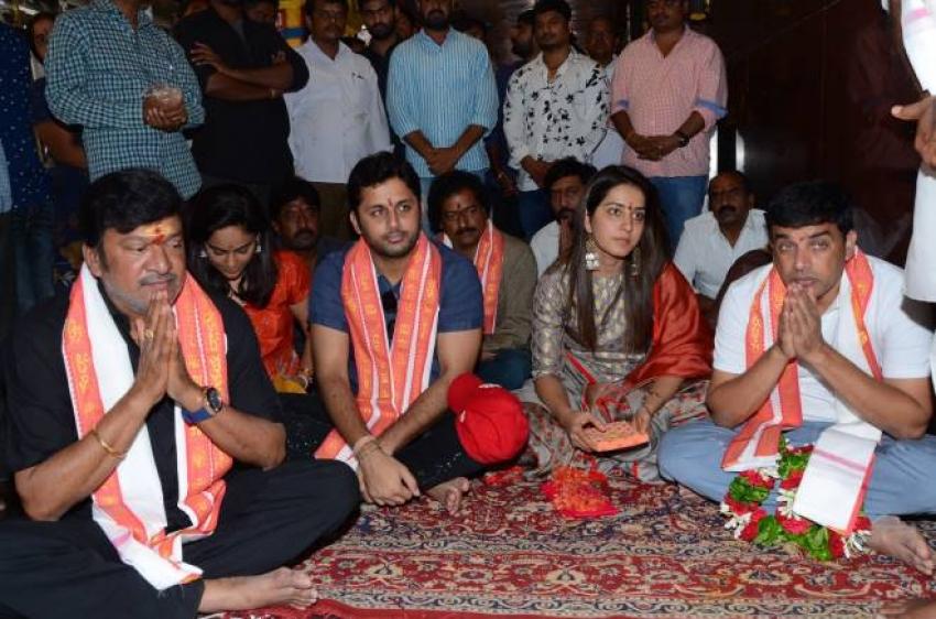 Srinivasa Kalyanam Team In Vijayawada Kanaka Durga Temple Photos