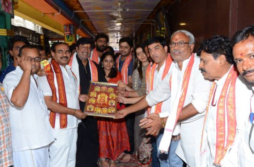 Srinivasa Kalyanam Team In Vijayawada Kanaka Durga Temple Photos