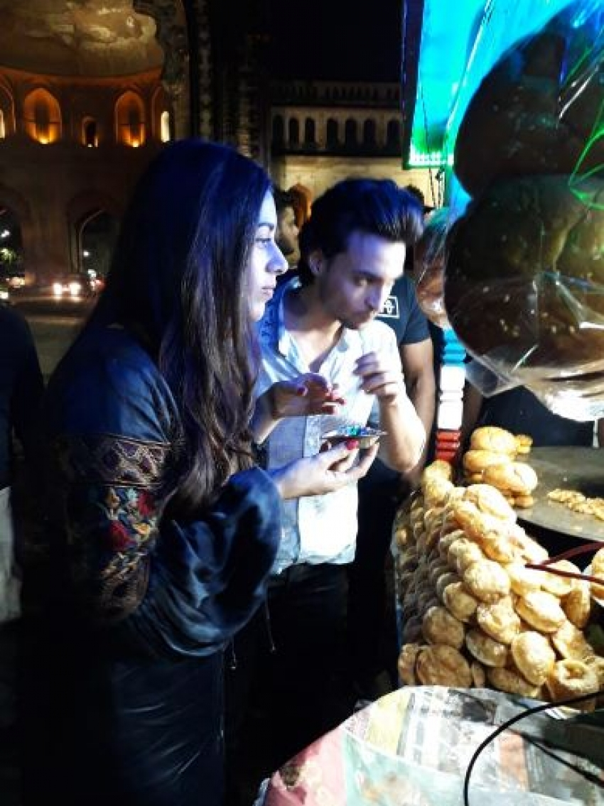 Aayush Sharma and Warina Hussain Promote Loveratri In Lucknow Photos