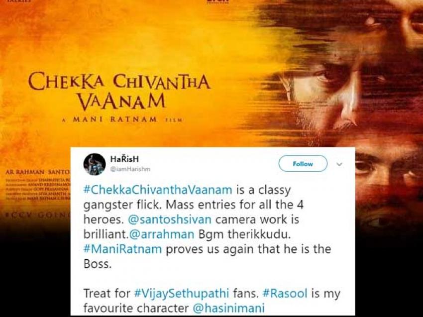 Chekka Chivantha Vaanam Twitter Audience Reaction Photos
