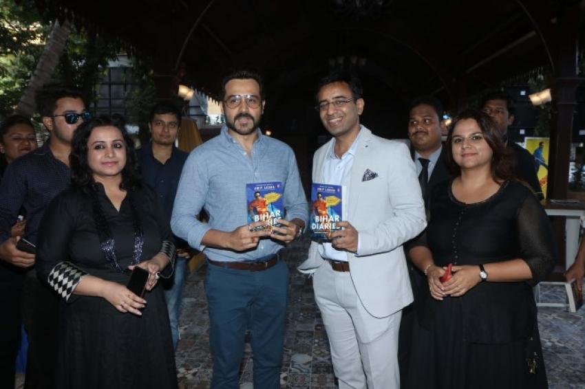 Emraan Hashmi unveils Amit Lodha's book 'Bihar Diaries' Photos