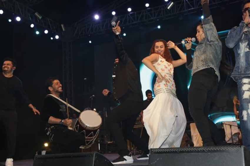 Manmarziyan Team Performance Tour in Noida Photos