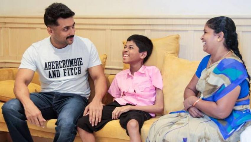 Suriya Sivakumar Family Adopts A Child Photos