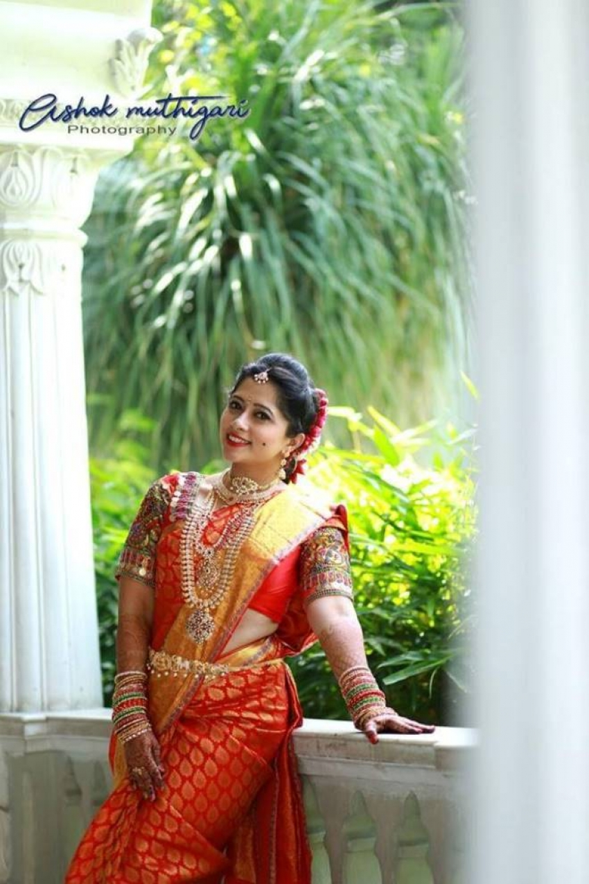 Telugu TV Actress Lahari Marriage Photos
