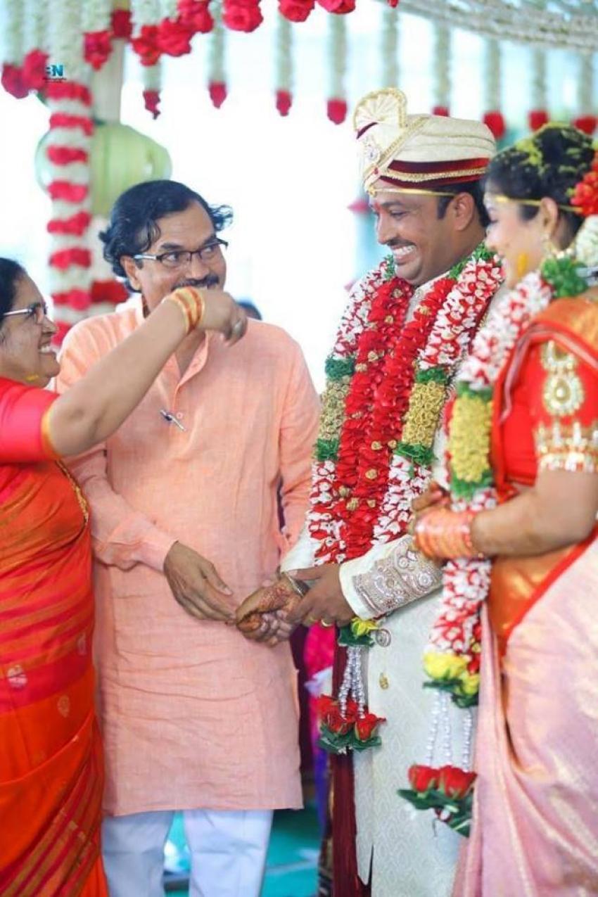 Telugu TV Anchor Chitralekha Marriage Photos