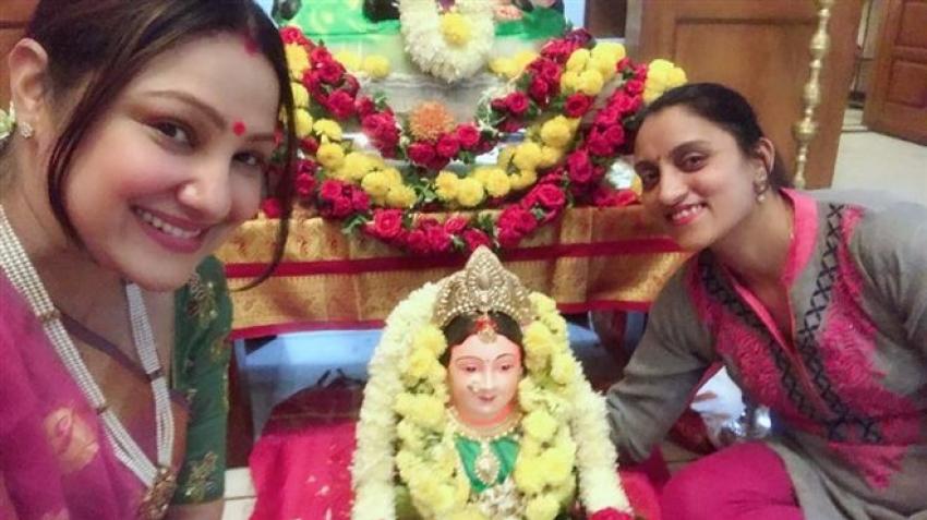 Upendra And Priyanka Upendra Celebrate Ganesh Chaturthi Festival 2018 Photos