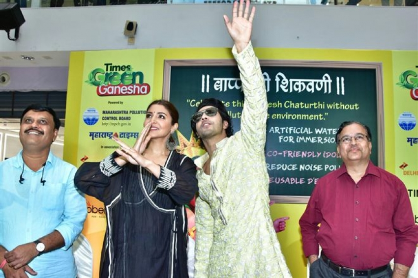Varun Dhawan & Anushka Sharma Promote Eco Friendly Ganesh Photos