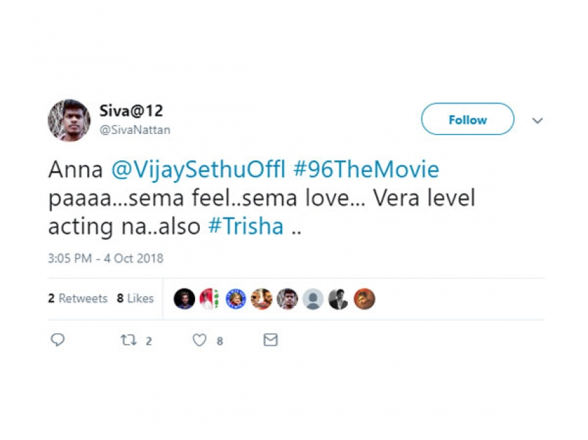 96 Tamil Movie Twitter Audience Reaction Photos
