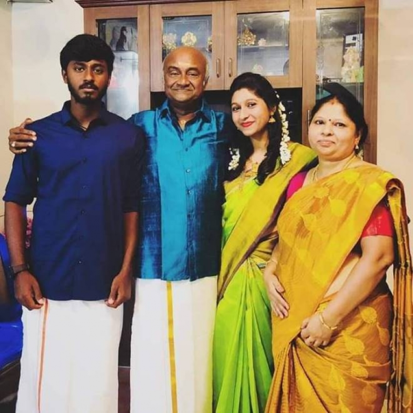 Actor MS Bhaskar Family Photos