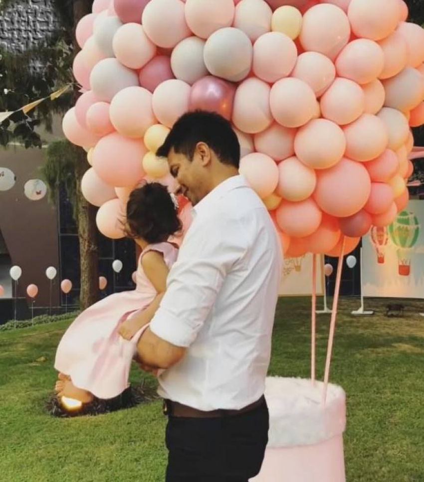 Actress Asin Daughter Arin's First Birthday Celebration Photos
