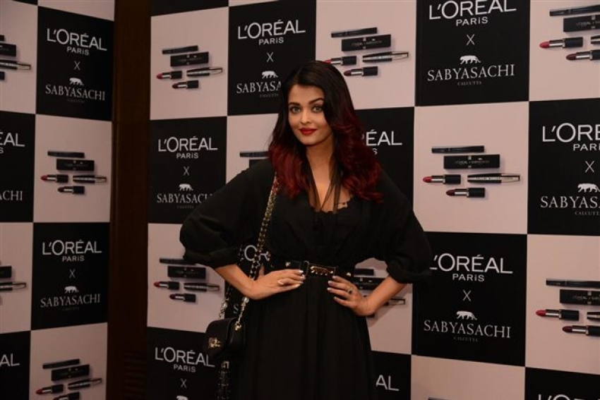 Aishwarya Rai Bachchan at the launch of L'Oreal Paris X Sabyasachi Collection Photos