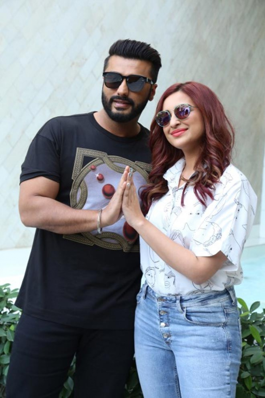 Arjun Kapoor and Parineet Chopra at a photoshoot to promote Namastey England Photos
