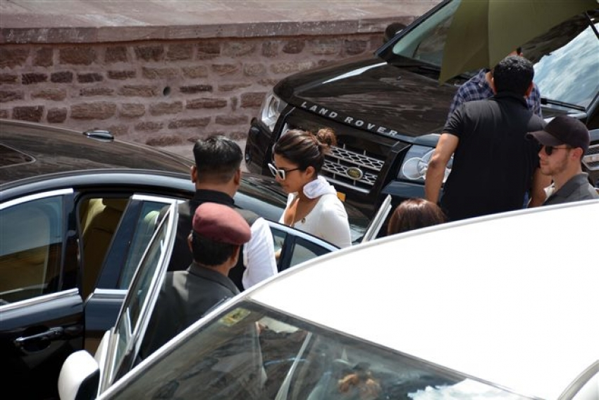 Nick Jones And Priyanka Chopra At Mehrgarh Fort Photos