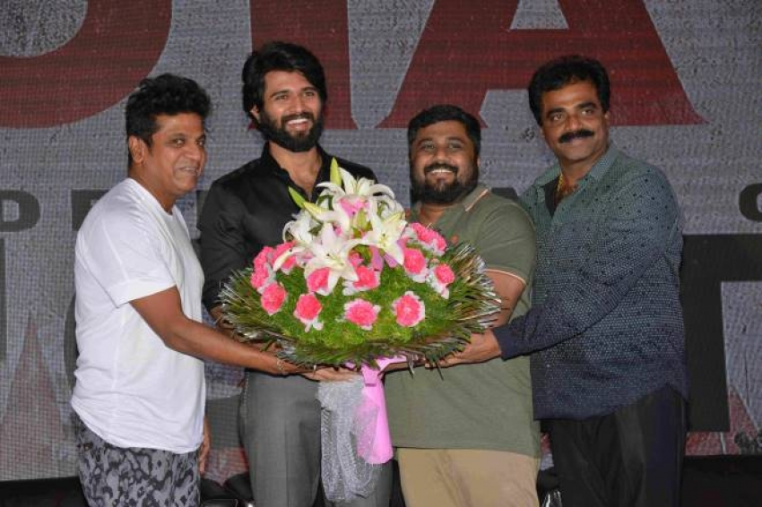 NOTA Movie Promotion In Bangalore Photos