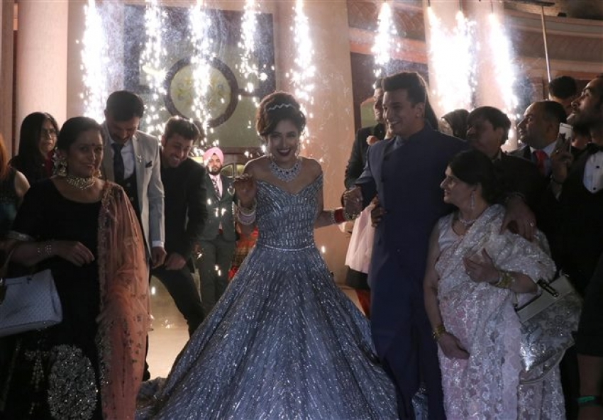 Prince Narula and Yuvika Chaudhary Wedding Reception In Chandigarh Photos
