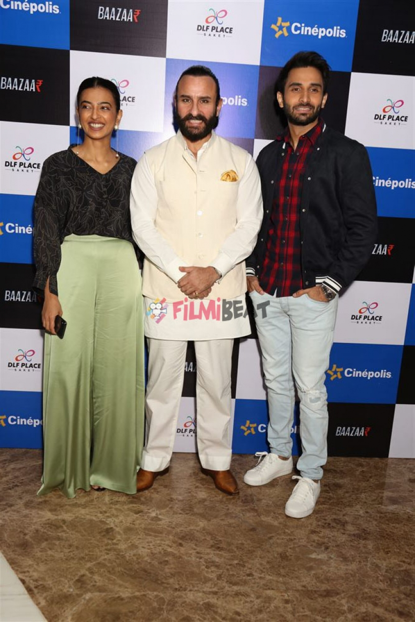 Saif Ali Khan And Radhika Apte promotes  Bazaar In New Delhi Photos