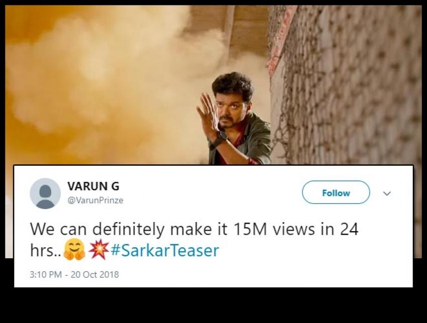 Sarkar Teaser Twitter Audience Reaction Photos