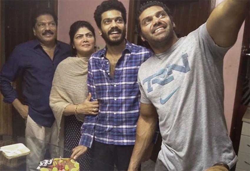 tamil actor arya family photos filmibeat