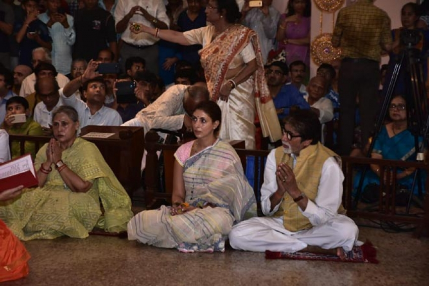 The Bachchan Family at Durga Puja Celebrations Photos