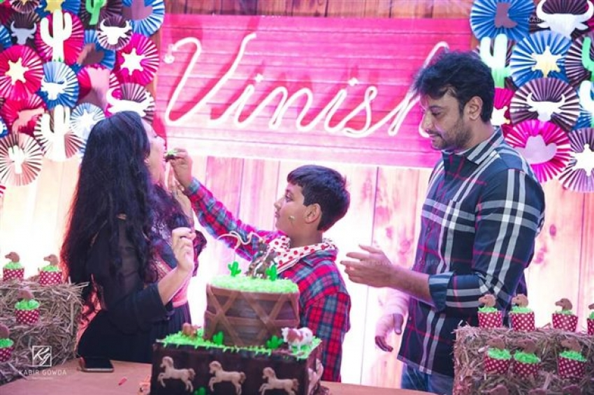 Actor Darshan Son Vineesh Birthday Celebration 2018 Photos
