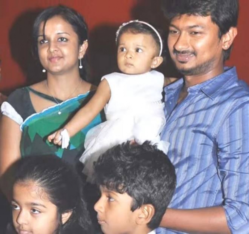 Actor Udhayanidhi Stalin Family Photos