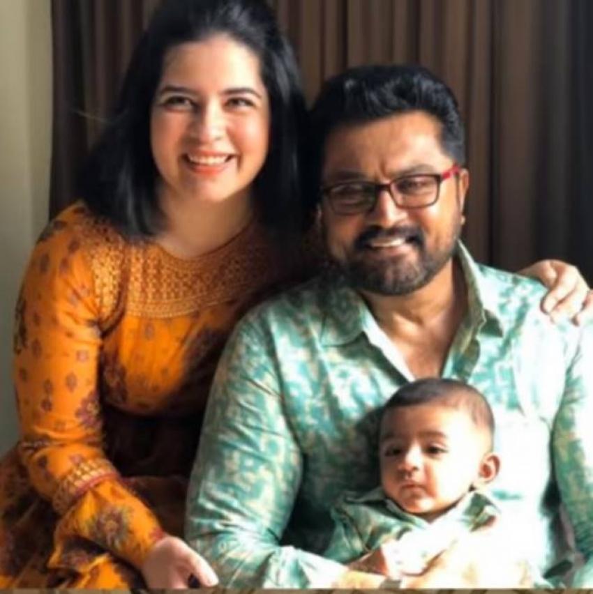 Actress Radhika Sarathkumar with Daughter And Grandson Photos