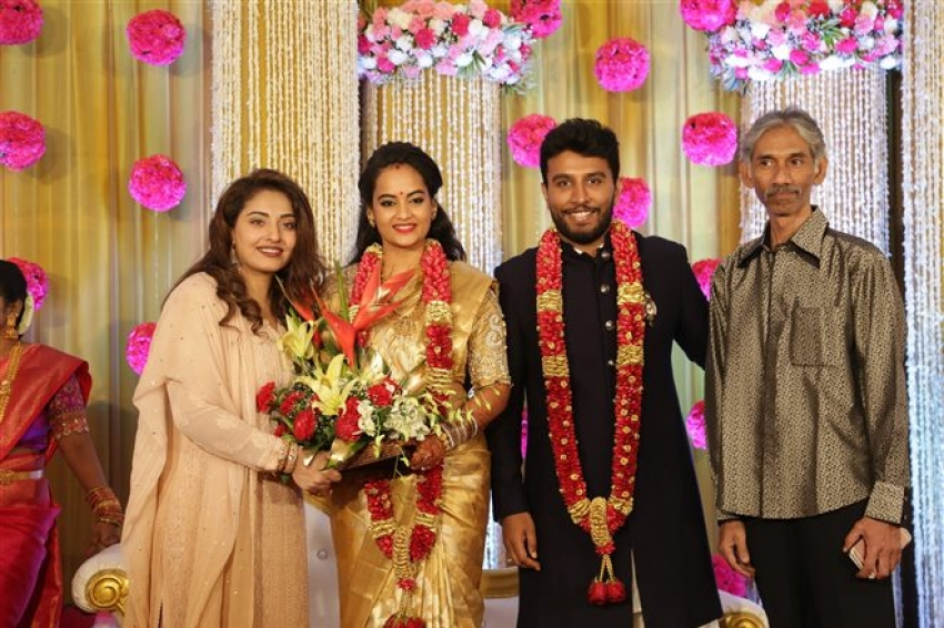 Actress Suja Varunee & Sivakumar Wedding Reception Photos