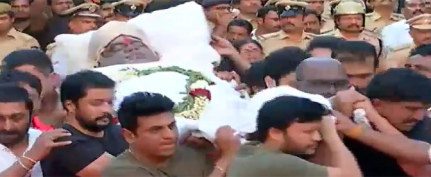 Ambareesh Last Journey Photos