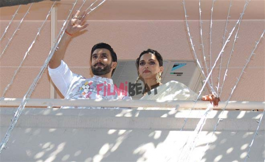 Deepika-Ranveer Singh Spotted At Their Bangalore House Photos