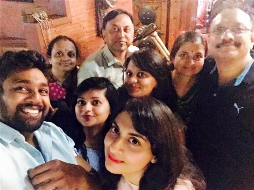 Dhruva Sarja With His Girlfriend Prenana Photos