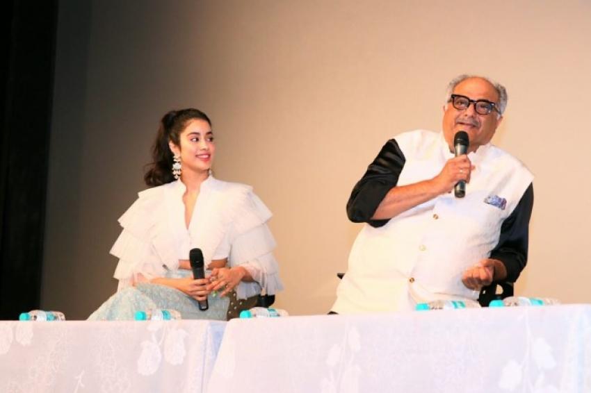 Jahnvi Kapoor with Dad Boney Kapoor attends IFFI Goa Photos